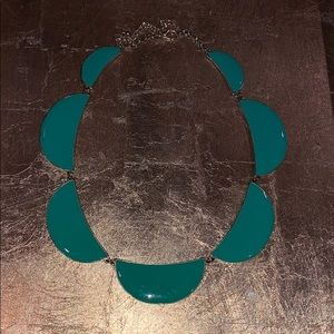 Charming Charlie green and gold necklace